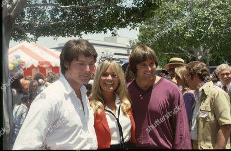 Christopher Reeve, Valerie Perrine and Bruce Jenner