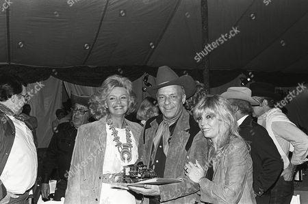 Barbara Sinatra, Frank Sinatra , and daughter Nancy Sinatra
