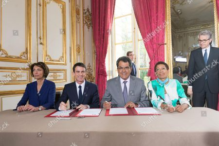 Editorial image of President of French Polynesia Edouard Fritch visit to France - 16 Apr 2015
