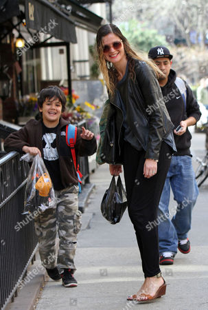 Editorial image of Jill Hennessy and son out and about, New York, America - 16 Apr 2015