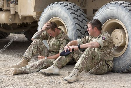 Bomb Disposal Experts Staff Sergeant Lee Hughes Left And His Younger Brother Warrant Officer Kim Hughes Who Was Awarded The George Cross After An Earlier Tour. See Ian Drury Story.