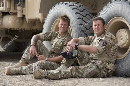 Editorial picture of Bomb Disposal Experts Staff Sergeant Lee Hughes Left And His Younger Brother Warrant Officer Kim Hughes Who Was Awarded The George Cross After An Earlier Tour. See Ian Drury Story.