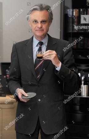 Jean-marc Duvoisin Ceo Of Nespresso At Nespresso Boutique Regents Street London.