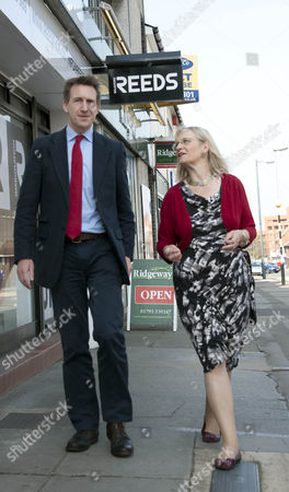 Dan Jarvis, Labour's candidate for Barnsley Central and Shadow Justice Minister with Anne Snelgrove, Labour parliamentary candidate for Swindon South