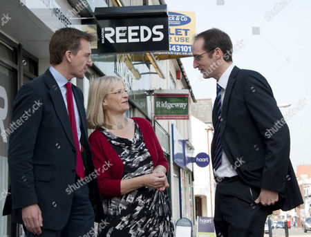 Dan Jarvis, Labour's candidate for Barnsley Central and Shadow Justice Minister with Anne Snelgrove, Labour parliamentary candidate for Swindon South and Lee Mott of Reeds Solicitors.