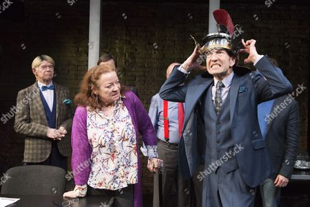 Clare Higgins as Verity Stokes and Greg Hicks as Morris Honeyspoon at the front.