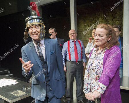 Greg Hicks as Morris Honeyspoon, Jim Bywater as Albert Duffy, Clare Higgins as Verity Stokes,