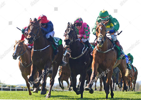 Navan. MR BOUNTY and Shane Kelly (left) wins for trainer Michael O'Callaghan from LADY RANGER (right) and BATTLEOFTHEBOYNE (centre).