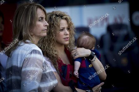 Shakira with her son Sasha Pique