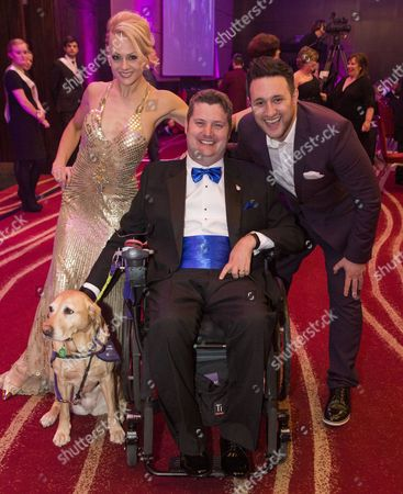 Jenny Gayner, Steve Brooks with dog Kizzie and Antony Costa