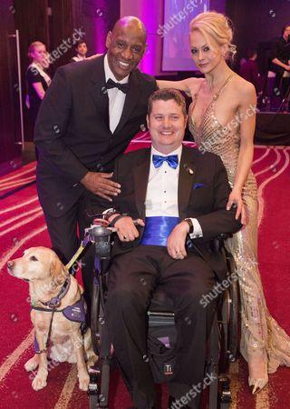Shaun Wallace, Jenny Gayner and Steve Brooks with dog Kizzie