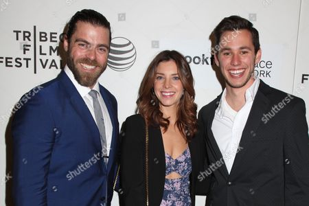 Stock Picture of Matthew Delamater, Maggie Castle and Gabe Gibbs