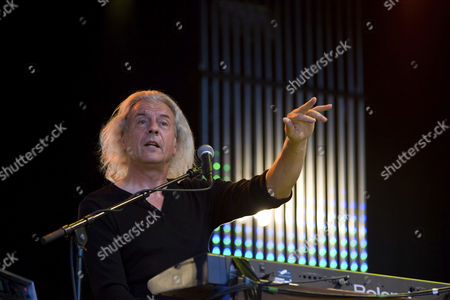Phil Lanzon, keyboard player of the British rock band Uriah Heep live at the A Magic Night Of Rock Open Air at the Heitere in Zofingen, Switzerland