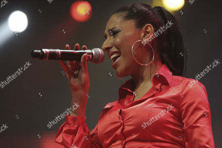 Senna Guemmour, member of the German girlgroup Monrose performing live at Energy Stars For Free at Hallenstadion Zurich, Switzerland