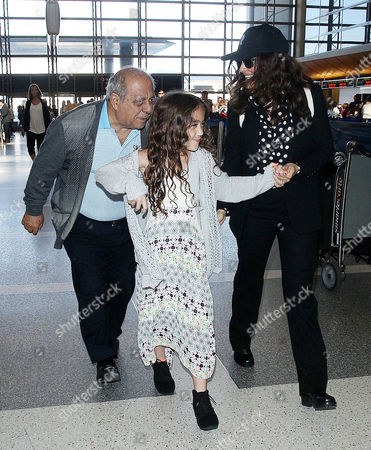 Editorial photo of Salma Hayek and family depart from LAX Airport, Los Angeles, America - 18 Apr 2015