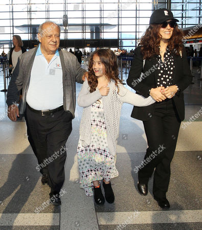 Editorial picture of Salma Hayek and family depart from LAX Airport, Los Angeles, America - 18 Apr 2015