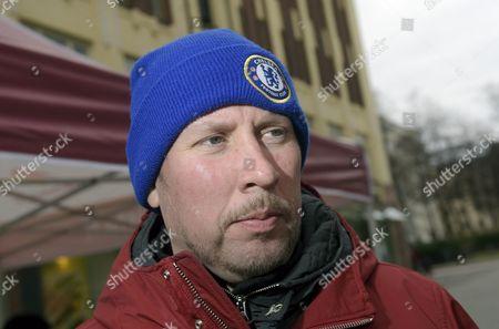 Chairman Paavo Arhinmaki of the Left Alliance campaigned in Helsinki