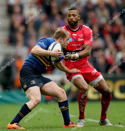 Leinster's Luke Fitzgerald and Delon Armitage of Toulon