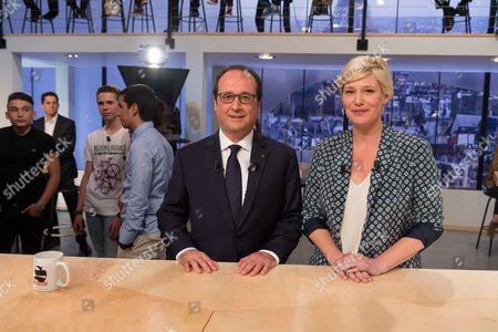 Francois Hollande and Maitena Biraben