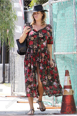 Editorial photo of Elisabetta Canalis and Brian Perri out and about, Los Angeles, America - 17 Apr 2015
