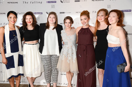 Stock Photo of Rose Caton, Katie Ann Knight, Evie Hooton, Maisie Williams, Florence Pugh, Anna Burnett and Morfydd Clark