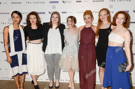 Stock Image of Rose Caton, Katie Ann Knight, Evie Hooton, Maisie Williams, Florence Pugh, Anna Burnett and Morfydd Clark