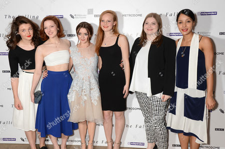 Stock Photo of Katie Ann Knight, Morfydd Clark, Maisie Williams, Anna Burnett, Evie Hooton and Rose Caton