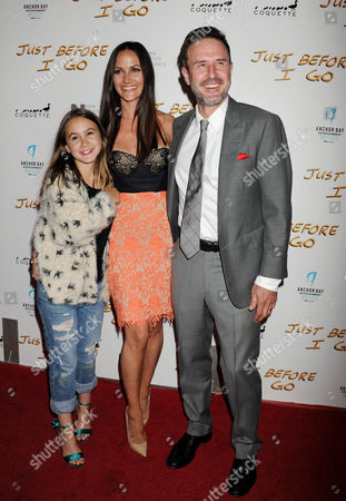 David Arquette, Christina McLarty and Coco Riley Arquette