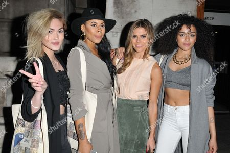 Zoe Hardman (2nd fr right) and Neon Jungle