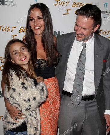 Christina McLarty, David Arquette, Coco Riley Arquette