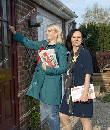 Editorial picture of Shadow Energy Secretary Caroline Flint MP and Labour candidate for Swindon South Anne Snelgrove on general election campaign in Walcot, Swindon, Wiltshire, Britain - 21 Apr 2015