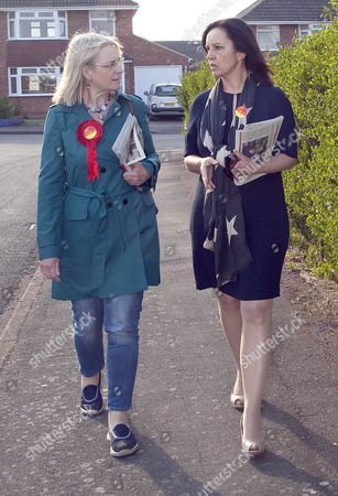 Labour candidate for Swindon South Anne Snelgrove and Caroline Flint
