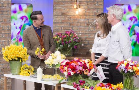 Simon Lycett with Amanda Holden and Phillip Schofield