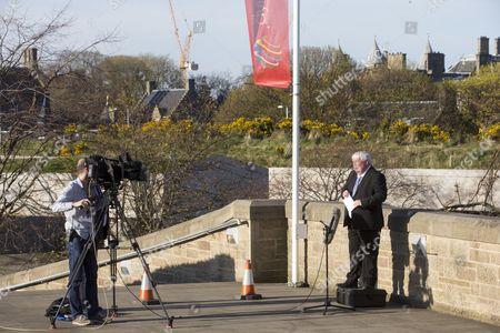 BBC Political Editor Brian Taylor Outside Holyrood Palace