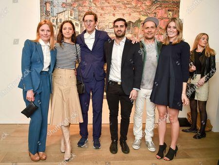 Juliet Chadwick, guest, Henry Hudson, Trent Ward, Marc Quinn and Francesca Zampi