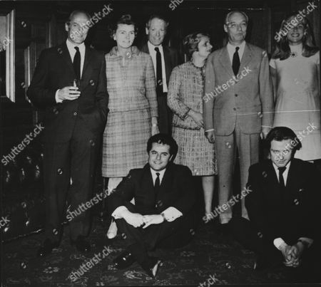 The French Rothschilds. Family Group With Baron Elie De Rothschild (extreme Left) With Baron Duy De Rothschild Baroness Alain De Rothschild Baron Alain De Rothschild Eric Son Of Baron Alain De Rothschild And Nathaniel Son Of Baron Elie De Rothschild.