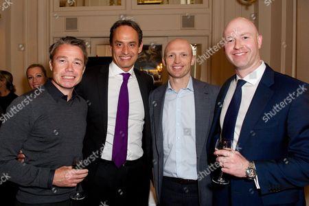 Graeme Le Saux, Andre Konsbruck, Matt Dawson and guest