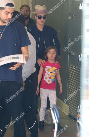 Editorial photo of Justin Bieber, Kendall Jenner and Hailey Baldwin out and about, Los Angeles, America - 23 Apr 2015
