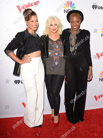 Kimberly Nichole, Christina Aguilera, India Carney