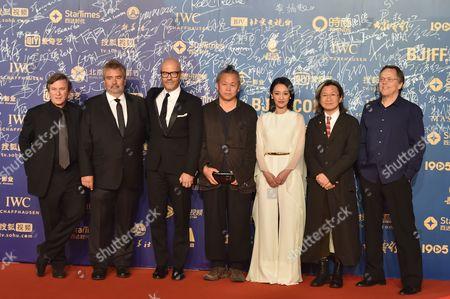 Stock Photo of Robert Mark Kamen, Luc Besson, Fyodor Bondarchuk, Ki-duk Kim, Xun Zhou, Peter Chan and Fernando Meirelles