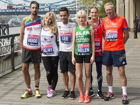 Stock Image of Hugo Taylor, Chrysochou Aliki, Lee Hendrie, Helen George, Oliver Proudlock, David Hemery