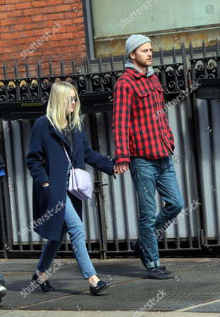 Editorial picture of Dakota Fanning and Jamie Strachan out and about, New York, America - 24 Apr 2015