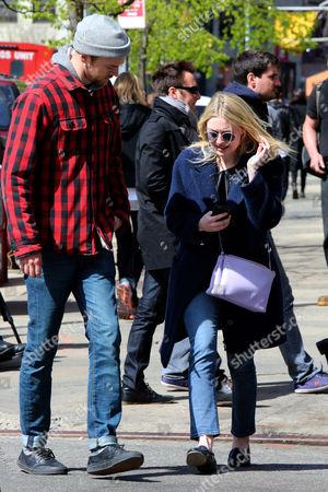 Stock Photo of Dakota Fanning and Jamie Strachan