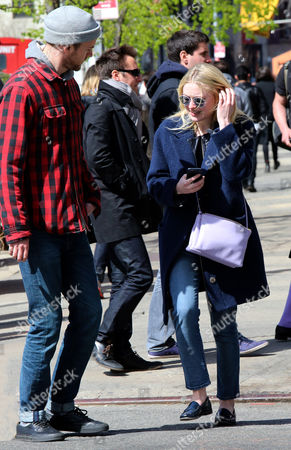 Editorial image of Dakota Fanning and Jamie Strachan out and about, New York, America - 24 Apr 2015