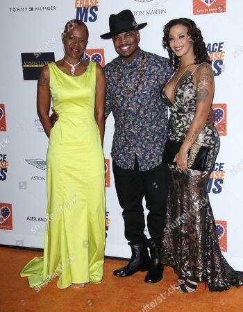 Stock Photo of Ne-Yo, Monyetta Shaw, Loraine Smith