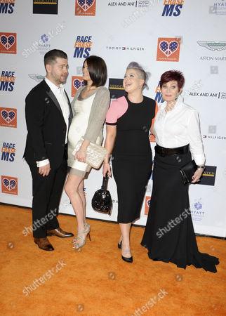 Sharon Osbourne, Kelly Osbourne, Jack Osbourne and wife Lisa Stelly