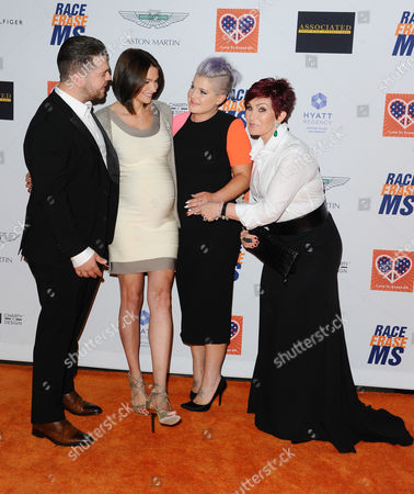 Jack Osbourne, Lisa Stelly, Kelly Osbourne and Sharon Osbourne