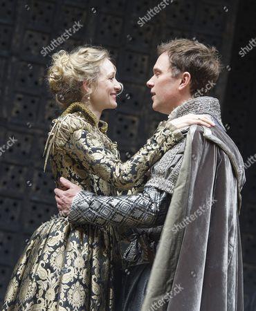 Rachel Pickup as Portia, Daniel Lapaine as Bassanio,