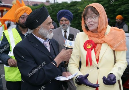 Stock Picture of Prospective Labour MP for Slough Fiona MacTaggart being interviewed