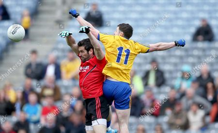 Kevin McKernan of Down with Ciaran Murtagh of Roscommon